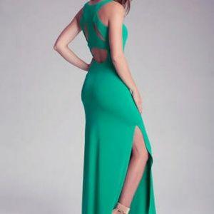 Bebe double slit maxi dress